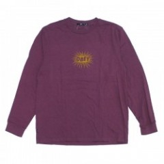 "OBEY L/STシャツ ""SPAZZ L/S TEE"" (Dusty Eggplant)"