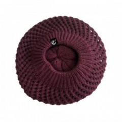 "range ベレー帽 ""RG NEW HATTAN KNIT BERET HAT"" (Burgundy)"