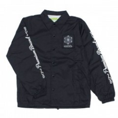 "seedleSs コーチジャケット ""SD CANNABIS CRYSTAL COACHES JKT"" (Black)"