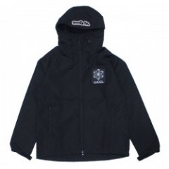 "seedleSs ジャケット ""SD CANNABIS CRYSTAL HOODED JKT"" (Black)"