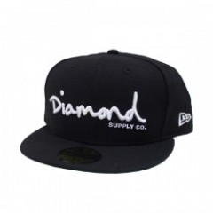 "DIAMOND SUPPLY CO. ""OG SCRIPT FITTED CAP"" (Black)"