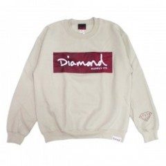 "DIAMOND SUPPLY CO. ""RADIANT BOX LOGO CREW"" (Cream)"