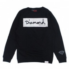 "DIAMOND SUPPLY CO. ""RADIANT BOX LOGO CREW"" (Black)"