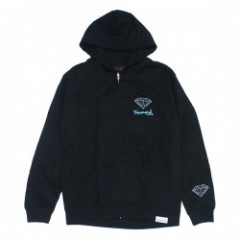 "DIAMOND SUPPLY CO. ""OG SIGN ZIP HOODIE"" (Black)"