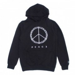 "Deviluse パーカ ""PEACE PULLOVER HOODED"" (Black)"