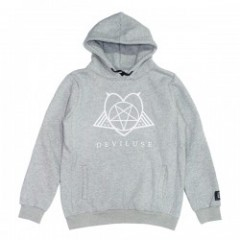 "Deviluse パーカ ""SATANISM PULLOVER HOODED"" (Gray)"
