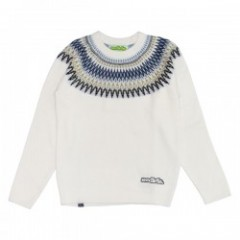 "seedleSs セーター ""SD NATIVE CREW NECK KNIT"" (White)"