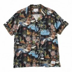 "★30%OFF★ CRIMIE ""LAS VEGAS ALOHA OPEN S/S SHIRT"" (Black)"