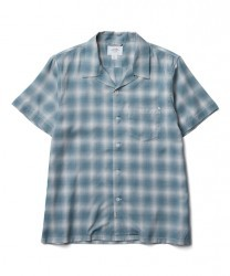 "CRIMIE S/Sシャツ ""OPEN RAYON SHORT CHECK SHIRT"" (Green)"