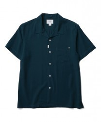 "CRIMIE S/Sシャツ ""WASHABLE RAYON OPEN SHORT SHIRT"" (Green)"