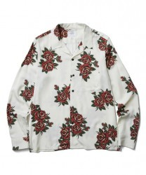"CRIMIE L/Sシャツ ""ROSE ALOHA LONG SHIRT"" (Off White)"