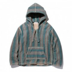 "RADIALL メキシカンパーカ ""LAID BACK FLEECE BAJA PARKA L/S"" (Green)"