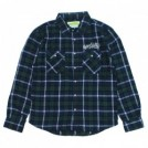"seedleSs L/Sシャツ ""SD RAISED CHECK NEL SHIRTS"" (Green/Navy)"