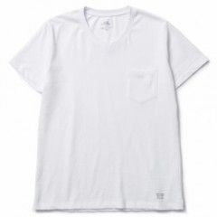"CRIMIE ""PREMIUM V NECK POCKET 2-PACK TEE"" (White)"
