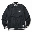 "CRIMIE ジャケット ""NYLON BOX LOGO STADIUM JACKET"" Black"