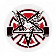 "INDEPENDENT ステッカー ""THRASHER PENTAGRAM CROSS DECAL 5"""""