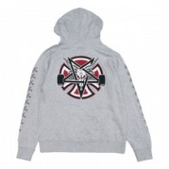 "INDEPENDENT パーカ ""THRASHER PENTAGRAM CROSS PULLOVER HOOD"" (Gray Heather)"