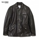 "CRIMIE ジャケット ""LAMB LEATHER COVERALL JACKET"" (Black)"