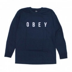 "OBEY L/STシャツ ""ANYWAY L/S TEE"" (Navy)"