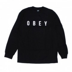 "OBEY L/STシャツ ""ANYWAY L/S TEE"" (Black)"