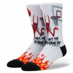 "STANCE ソックス "" NECKFACE ON FIRE"" (White)"