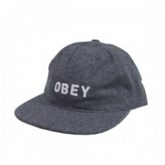 "OBEY キャップ ""AFTON 6PANEL CAP"" (Heather Gray)"