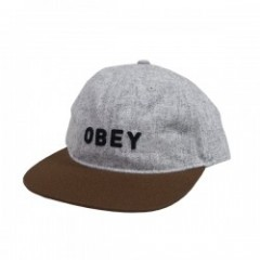 "OBEY キャップ ""FREEPORT 6PANEL CAP"" Heather Gray Multi"