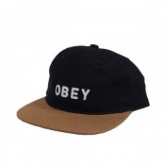 "OBEY キャップ ""FREEPORT 6PANEL CAP"" (Black Gray Multi)"