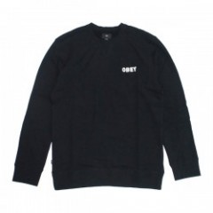 "OBEY クルースウェット ""FOSTER CREW SWEAT"" (Black)"
