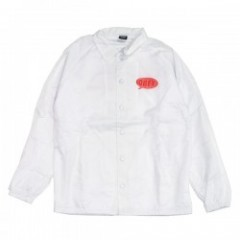 "OBEY コーチジャケット ""SMALL TALK COACHES JACKET"" (White)"