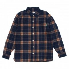 "seedleSs L/Sシャツ ""SD ORIGINAL STRIPECHECK SHIRTS"" (Navy/Brown Check)"