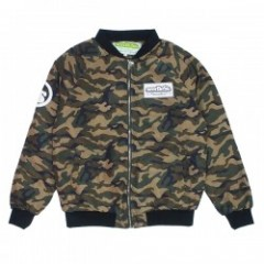 "seedleSs ジャケット ""SD ZIP UP QUILTED JKT"" (Camo)"