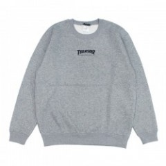 "THRASHER クルースウェット ""HOMETOWN A CREW SWEAT"" (Gray/Black)"