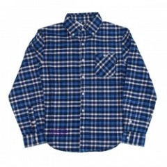 "seedleSs L/Sシャツ ""SD CHECKY NEL SHIRTS"" (Blue Check"