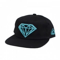 "DIAMOND SUPPLY CO. ""BRILLIANT SNAPBACK CAP"" (Black"