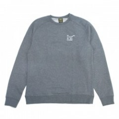 "KROOKED クルースウェット ""KAT CREW SWEAT"" Gunmetal Heather"