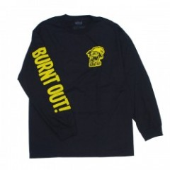 "BRIXTON by FARTCO ""BURNT OUT L/S STANDARD TEE"" Blk"