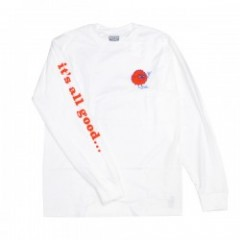 "BRIXTON by FARTCO ""ALL GOOD L/S STANDARD TEE"" Wht"