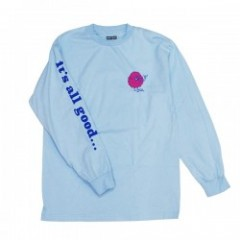 "BRIXTON by FARTCO ""ALL GOOD L/S STANDARD TEE"" Blue"