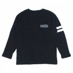 "seedleSs クルースウェット ""SD CROSS STITCH CREW SWEAT"" (Stoned Black)"