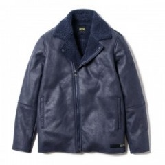 "Deviluse ジャケット ""MOUTON RIDERS JKT"" (Navy)"