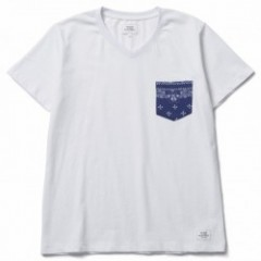 "CRIMIE ""ORIGINAL BANDANA POCKET T"" Wh/Nv"