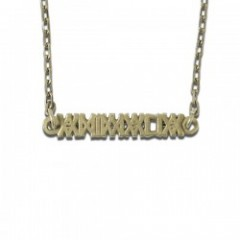 "ANIMALIA ネックレス ""LOGO NECKLACE"" (Brass)"
