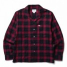 "CRIMIE L/Sシャツ ""OMBRE CHECK SHIRT"" (Red)"
