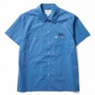 "CRIMIE S/Sシャツ ""WORK STRETCH SHORT SLEEVE SHIRT"" (Blue)"