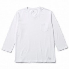 "CRIMIE 8分丈TEE ""PREMIUM 8TH V NECK POCKET TEE"" Wht"