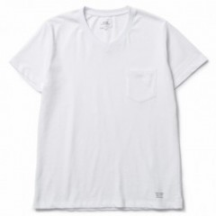 "CRIMIE Tシャツ ""PREMIUM V NECK POCKET TEE"" (White)"