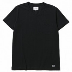 "CRIMIE Tシャツ ""PREMIUM V NECK POCKET TEE"" (Black)"