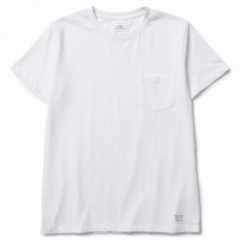 "CRIMIE Tシャツ ""PREMIUM CREW NECK POCKET TEE"" (White)"