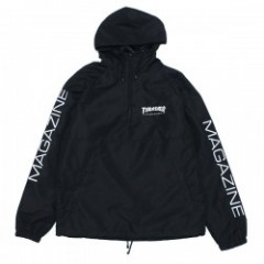 "THRASHER アノラック ""HOMETOWN ANORAK"" (Black/Black)"